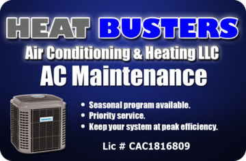 .Air Conditioner maintenance programs at Heat Busters